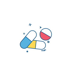 tablets pills medical health icon desige vector image