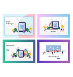 technologies future in real human life smart house vector image