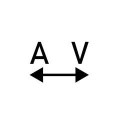 tracking word a and v icon can be used for web vector image