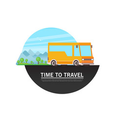 travel bus in flat style vector image
