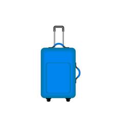 Travel suitcase in blue design vector