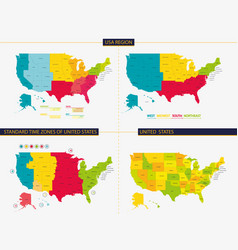 USA Time Zone Map Vector Images (26)