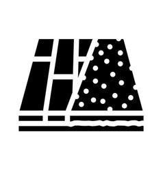 Various materials floor glyph icon vector