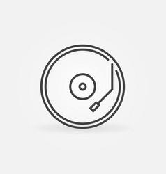vinyl player concept round line icon vector image