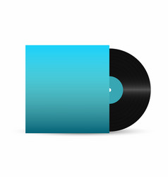 vinyl record gramophone vinyl record with empty vector image