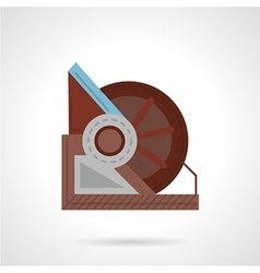 Winch icon flat style vector