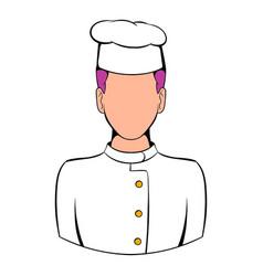 chef icon cartoon vector image