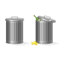 empty and full refuse bin vector image vector image