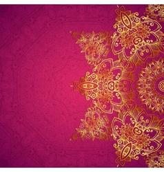 Purple ornate vintage wedding card background vector