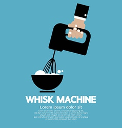 Cooking With Whisk Machine vector image vector image