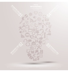 Creative light bulb with drawing business strategy vector image