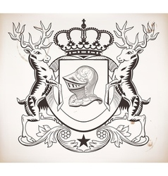 Herealdic shield Crown vector image vector image