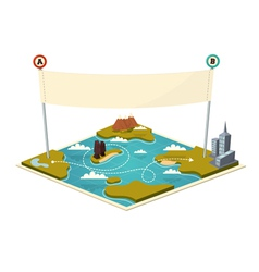 Map with banner vector image vector image