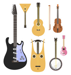 set of stringed musical instruments classical vector image