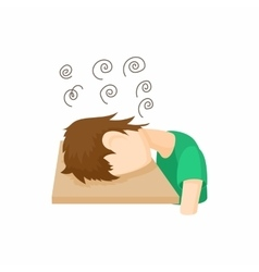 Stressed man icon cartoon style vector image vector image
