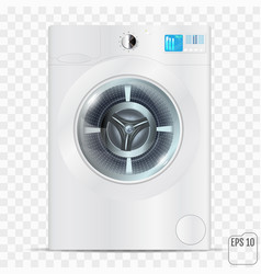 white washing machine isolated on a transparent vector image