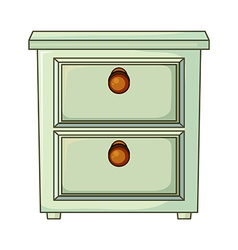 A table with drawer vector image