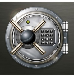 Bank vault on dark vector image vector image