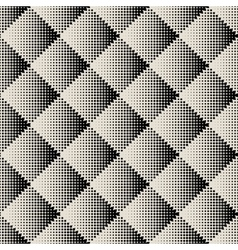 dots rhombus seamless monochrome pattern vector image vector image