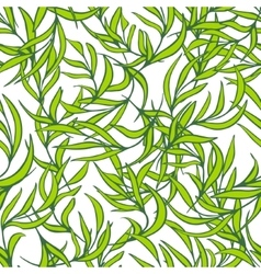 Natural leaves seamless pattern Hand drawn vector image