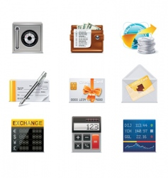 vector banking icons part 2 vector image vector image