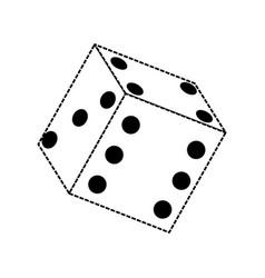 dice icon iage vector image vector image