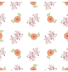 Floral wreath seamless pattern vector image
