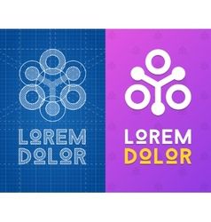 Geometric icon for business with scheme vector image vector image