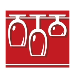 Glassware pub or bar icon vector image vector image