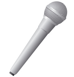 modern wireless microphone vector image vector image