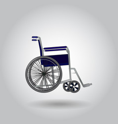 wheelchair on grey background vector image vector image