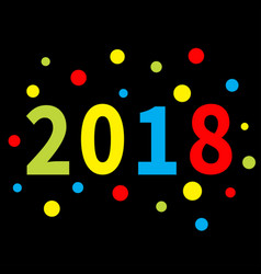 2018 new year colorful round dot template vector image