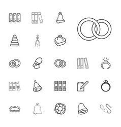 22 ring icons vector