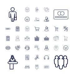 37 customer icons vector