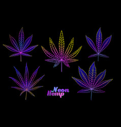 4 grades cannabis leaf set vector image