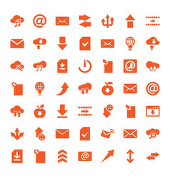 49 download icons vector image