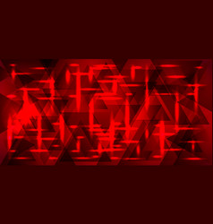 A square pattern of rectangles of red color vector