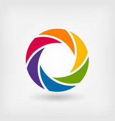 Abstract symbol rainbow circle vector