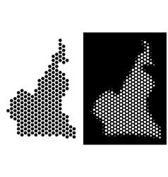 African cameroon map hex-tile scheme vector