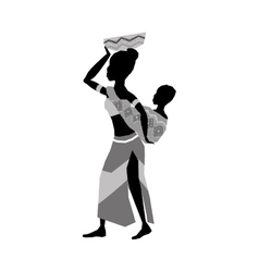 African woman baby vector image vector image
