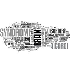 Aicardi syndrome text word cloud concept vector