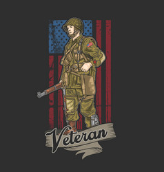 American army veteran independence vector