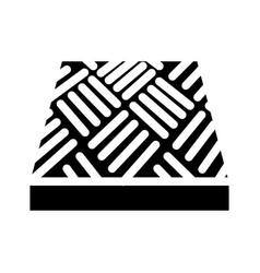 Anti-slip flooring glyph icon vector