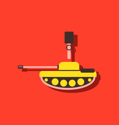Anti-tank mine bomb in sticker style vector