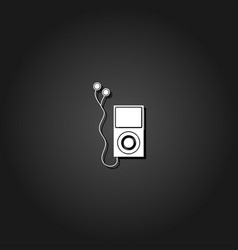 audio player icon flat vector image