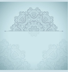 background with round lace oriental pattern vector image