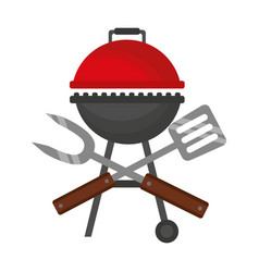 barbecue grill spatula and fork vector image