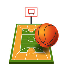 Basketball game equipment sport items and play vector