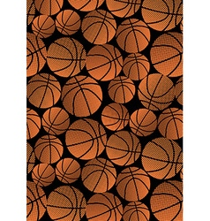 Basketball repeat halftone pattern vector