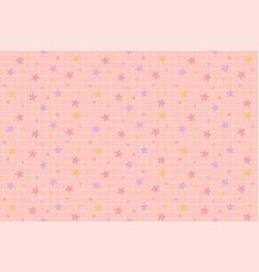 Beautiful innocent cute seamless pattern pastel fl vector